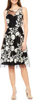 Studio 1 Sleeveless Embroidered Fit & Flare Dress
