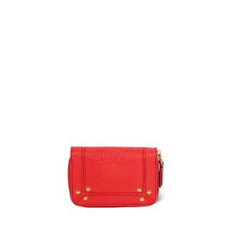 Jerome Dreyfuss Henri Wallet in Rouge Bubble Lambskin