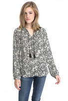 Daniel Rainn Floral Button Down Blouse