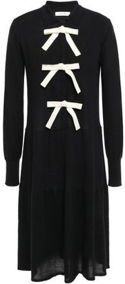 Parker Chinti & Bow-embellished Wool And Cashmere-blend Dress