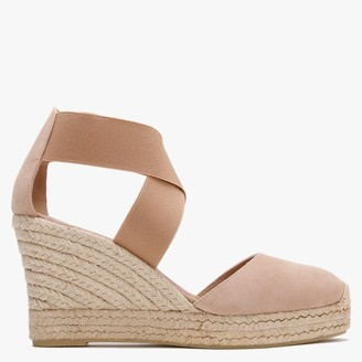 Daniel Ciara Beige Suede Closed Toe Wedge Espadrilles