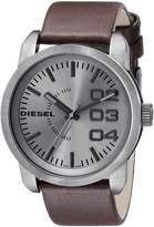 Diesel Men's DZ1467 Double Down Analog Display Analog Quartz Brown Watch
