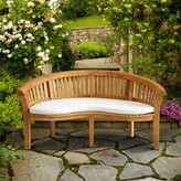 Cairo Outdoor Teak Garden Bench Rosecliff Heights