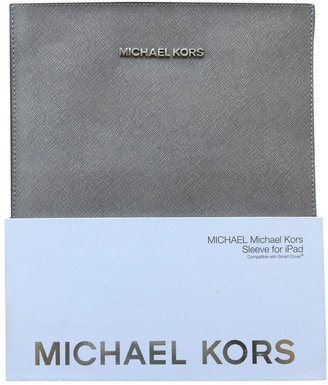 Michael Kors Grey Leather Accessories