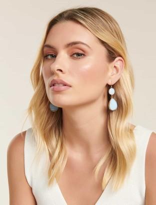 Forever New Flick Shell Drop Earrings - Blue - 00