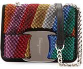 Salvatore Ferragamo Vara Rainbow Crystal Shoulder Bag