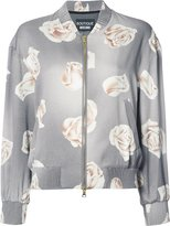 Moschino rose print bomber jacket - women - Rayon - 38