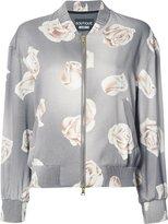 Moschino rose print bomber jacket