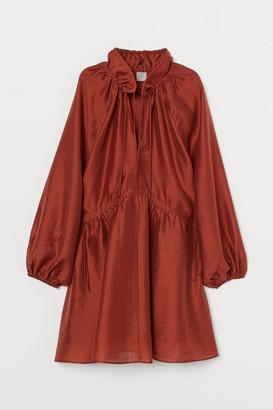 H&M Lyocell-blend Kaftan Dress - Orange