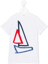 Il Gufo boat print T-shirt - kids - Cotton/Spandex/Elastane - 3 yrs