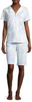 Midnight by Carole Hochman Bermuda Cotton Pajama Set
