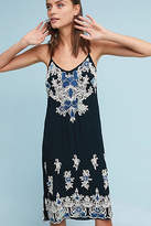 Love Sam Denim Applique Slip Dress