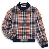 Ralph Lauren Toddler's, Little Girl's & Girl's Reversible Plaid Baseball Jacket