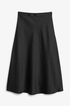 Monki Silky midi skirt