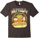 Junk Food Clothing Men's I BELIEVE IN THE HOLY TRINITY OF FAT, SALT, AND SUGAR Tee Large