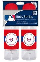 Baby Fanatic Sports MLB Baby Bottles 2 Pack Safe BPA Free (Philadelphia Phillies)