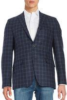 Black Brown 1826 Plaid Wool Blazer