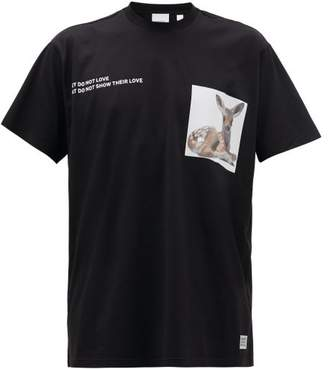 Burberry Bambi Cotton-jersey T-shirt - Mens - Black