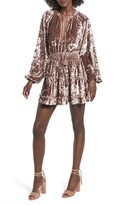 Tularosa Women's Delaney Crushed Velvet Minidress