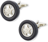 Link Up Carved Enamel Wheel Cuff Links