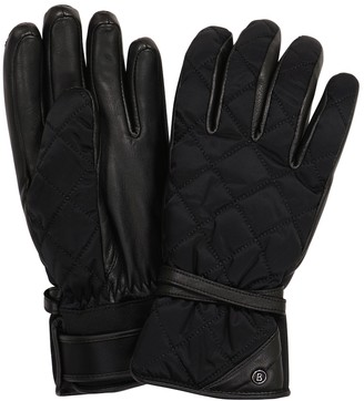 Bogner Cindy leather-trimmed ski gloves