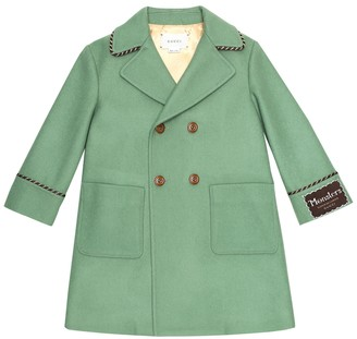 Gucci Kids Wool double-breasted coat
