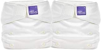 MIO Bambino miosolo All in one Nappy, Marshmallow (Pack of 2)