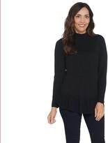 Isaac Mizrahi Live! Mock-Neck Long-Sleeve Peplum Sweater
