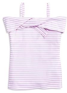 Habitual Kids Girls' Kyra Stripe Twist Top - Big Kid