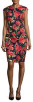 Alexia Admor Rose Print Sheath Dress