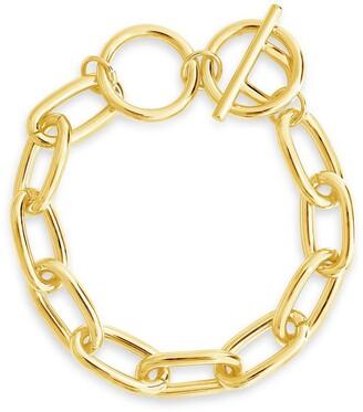 Sterling Forever 14K Gold Plated Linked Bracelet