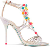 Sophia Webster Arielle beaded woven leather sandals