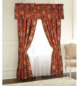 Rose Tree Durelme Lined 84-Inch Rod Pocket Window Curtain Panel Pair in Red