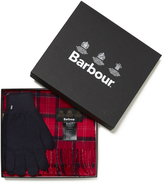 Barbour Scarf and Gloves Set Cardina