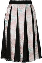 House of Holland Palm Leaf pleated skirt - women - Cotton/Polyester/Rayon - 6