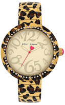 Betsey Johnson Betseys Holiday Leopard Expand Watch