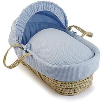 Clair De Lune Waffle Palm Moses Basket