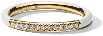 Ippolita 18kt yellow gold diamond Stardust band ring