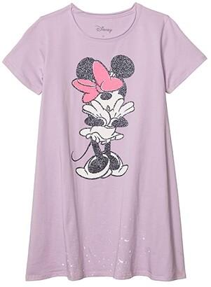 Chaser Minnie Mouse Glitter Bow Cotton Jersey Shirtdress (Toddler/Little Kids/Big Kids) (Glitter) Girl's Dress
