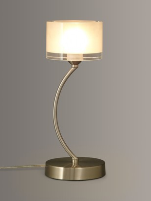 John Lewis & Partners Paige Touch On/Off Table Lamp, Satin Chrome