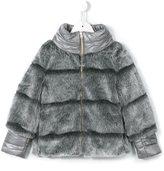 Herno Kids - faux fur padded jacket - kids - Modacrylic/Polyamide/Polyester - 4 yrs