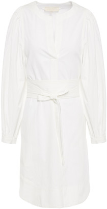 Vanessa Bruno Louri Belted Herringbone Cotton Mini Dress