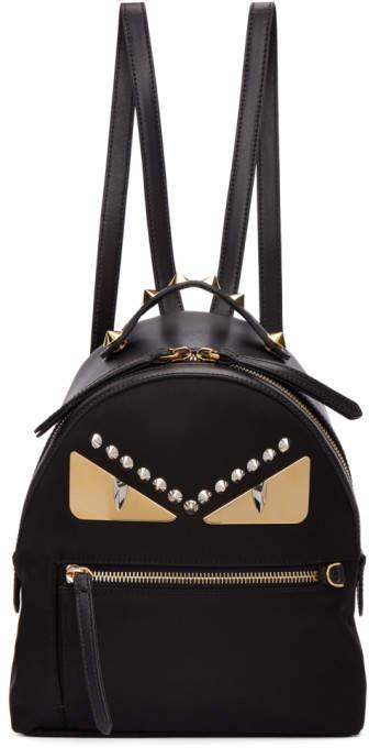 Fendi Black Mini Bag Bugs Zaino Backpack