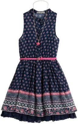 Knitworks Girls 7-16 & Plus Size Knit Works Printed Skater Dress & Necklace Set