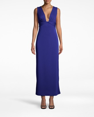 Nicole Miller Stretchy Matte Jersey Plunge Gown