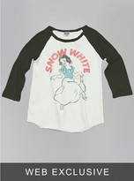 Junk Food Clothing Kids Girls Snow White Raglan-su/bw-l