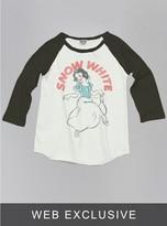 Junk Food Clothing Kids Girls Snow White Raglan-su/bw-xl