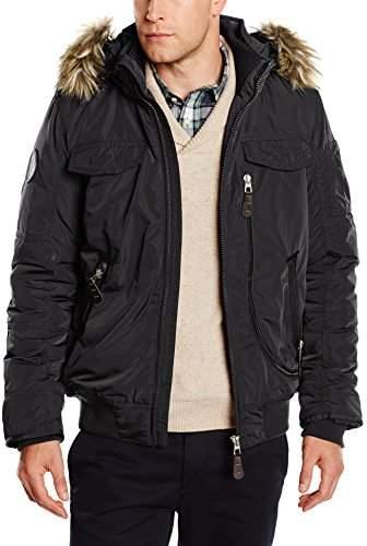 adc12f1bf Men's Blouson Jacket with Hood 509 Black 2999, (Size: XL)