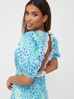 Very Tiered Mix Print Midaxi Dress - Floral Spot