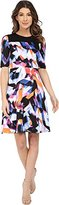 Maggy London Women's Rainbow Fragment Printed Scuba Fit and Flare